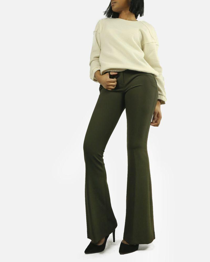 Pantalon kaki évasé Space Style Concept