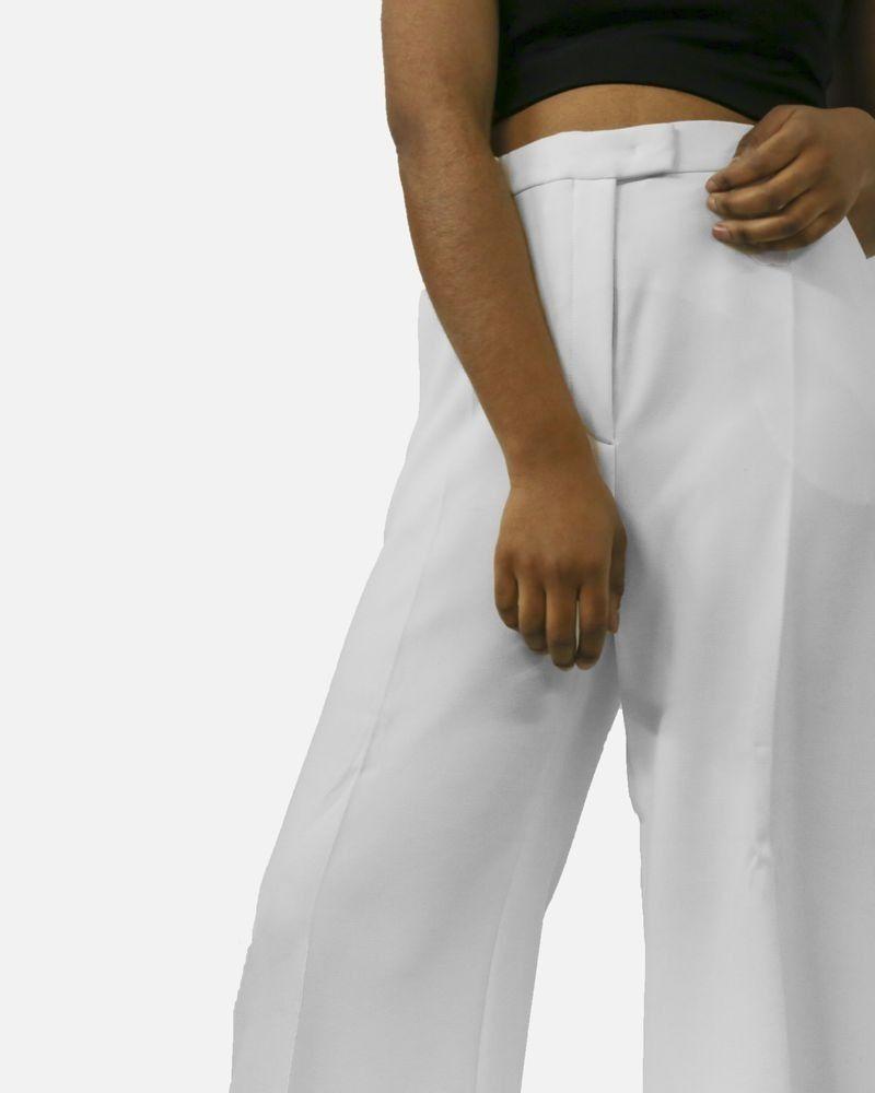 Pantalon blanc élégant Emmanuel Ungaro
