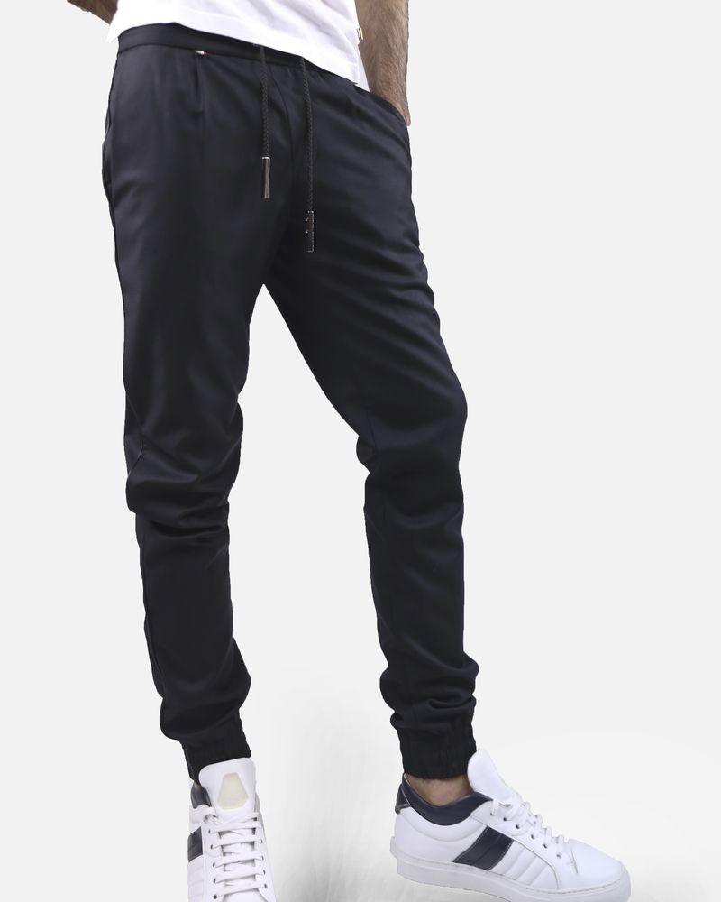 Pantalon noir en laine Philipp Plein