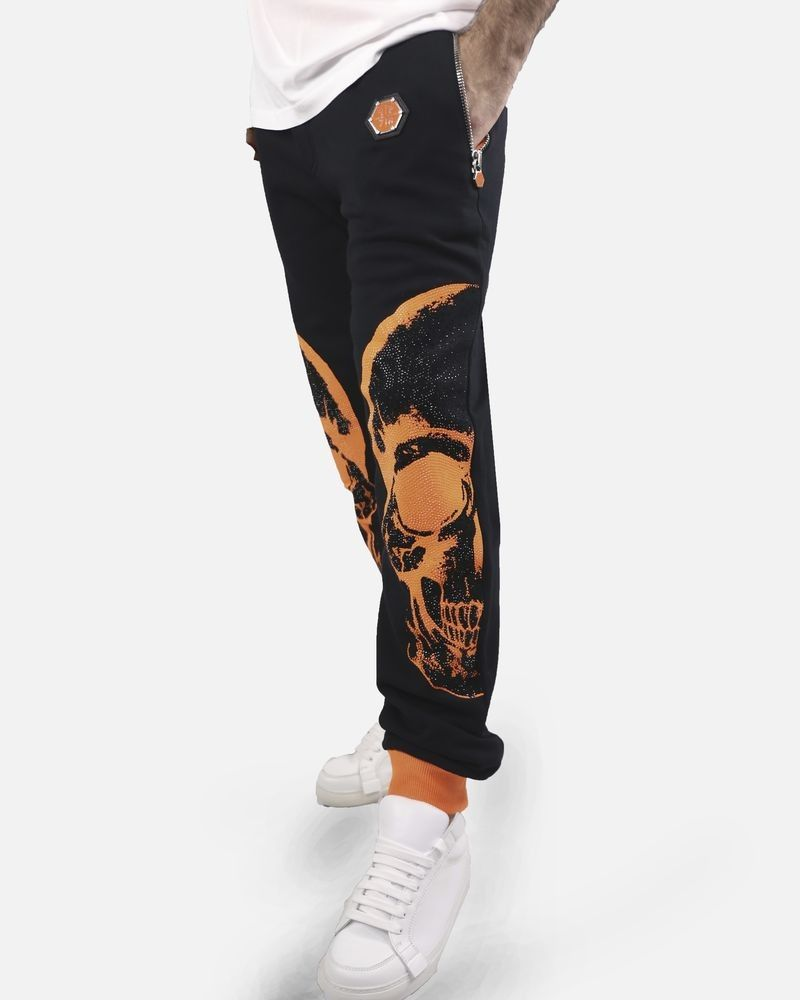 Jogging noir et orange Philipp Plein
