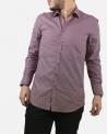 Chemise violette à motifs Sand