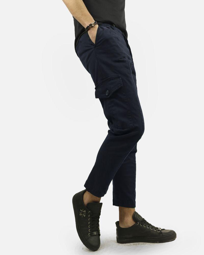 Pantalon cargo bleu Low Brand