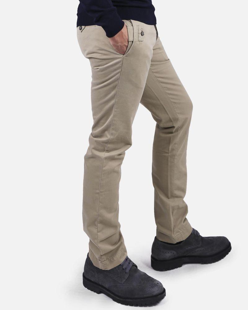 Pantalon beige double-poches Marchand Drapier