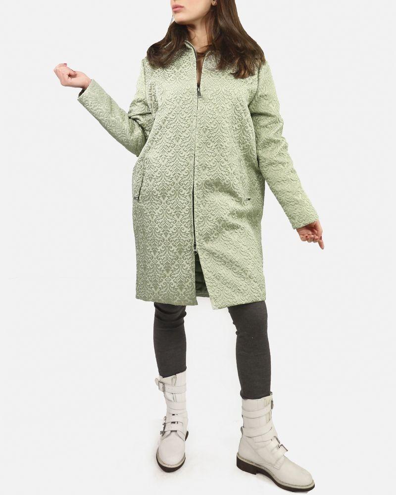 Manteau vert à motifs John Galliano