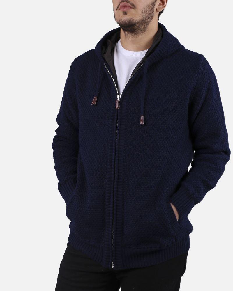 Gilet bleu à capuche Casheart