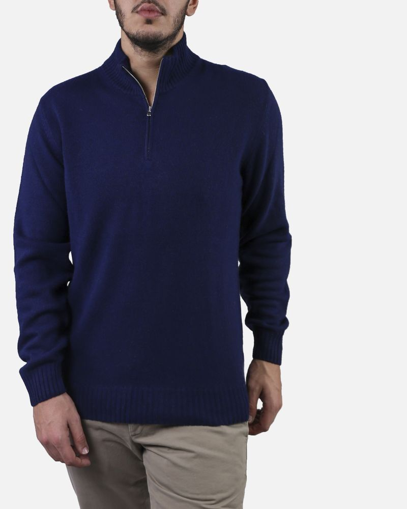 Pull bleu col montant Panicale