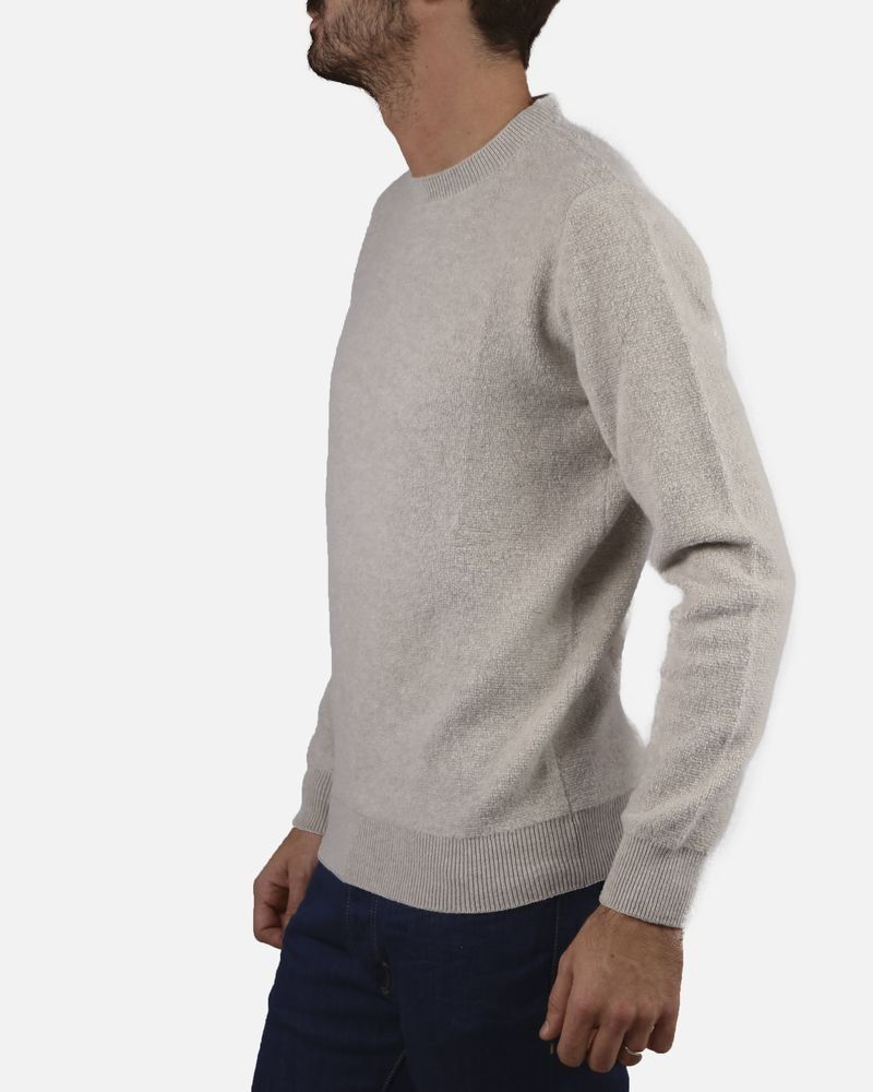 Pull beige col rond Panicale