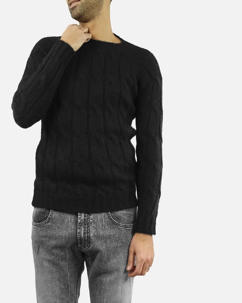 Pull maille noir col rond Lords & Fools