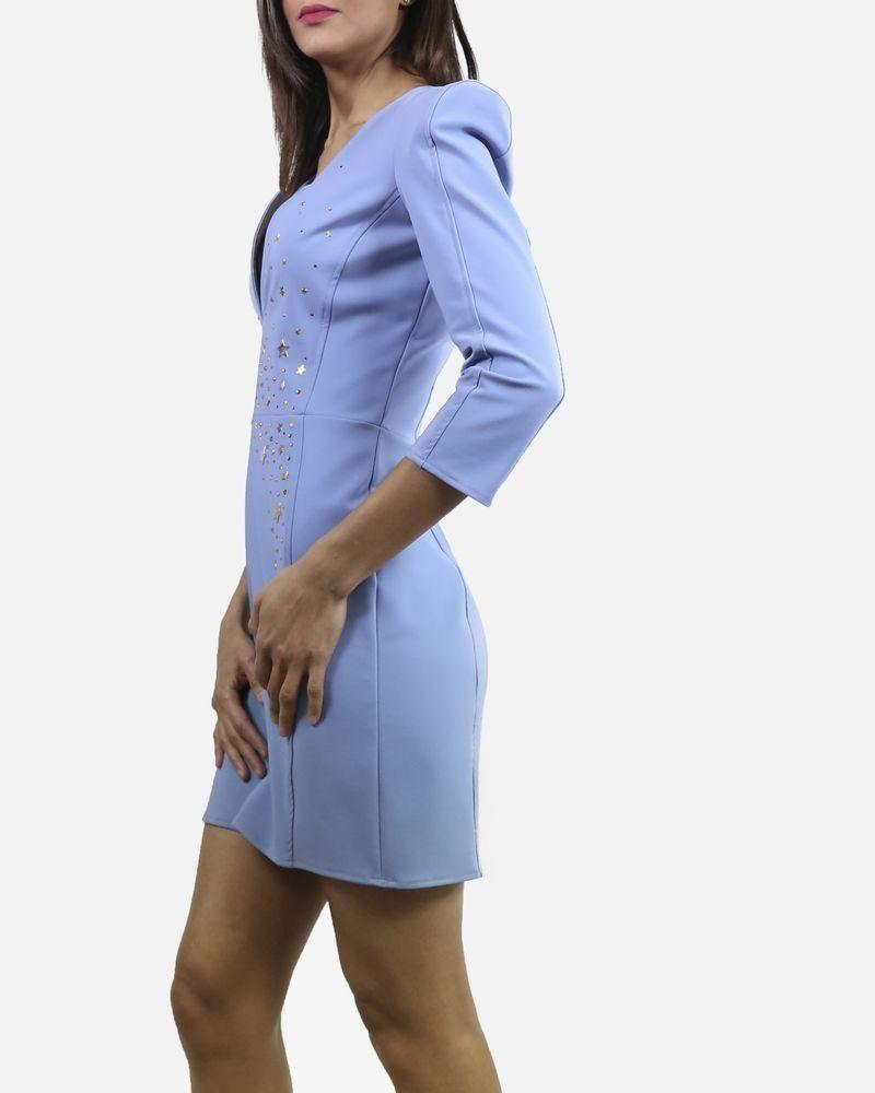 Robe bleue étoilée Elisabetta Franchi