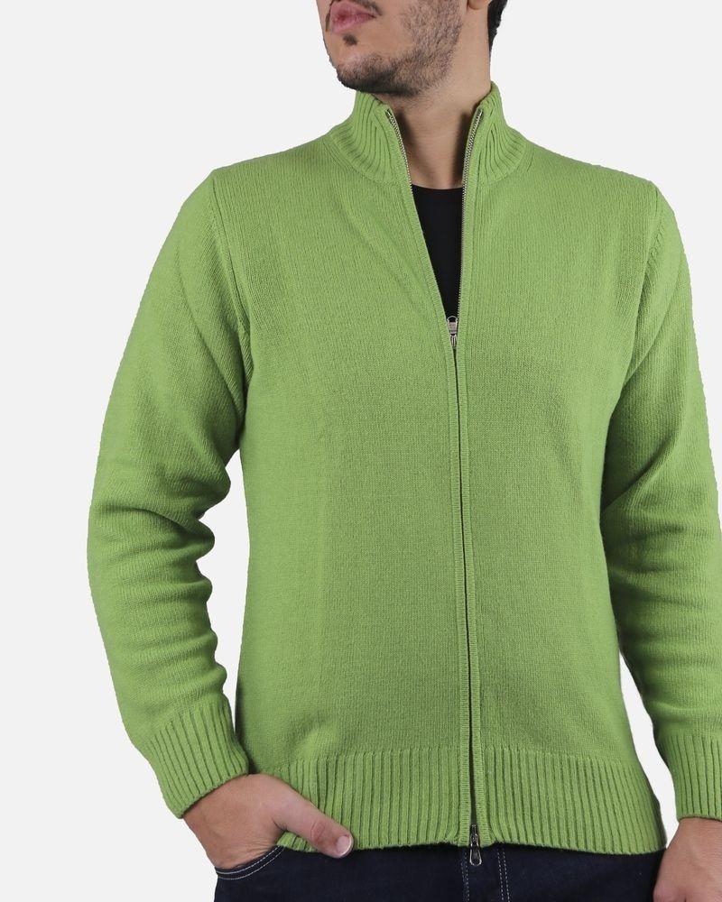Gilet vert zippé Casheart