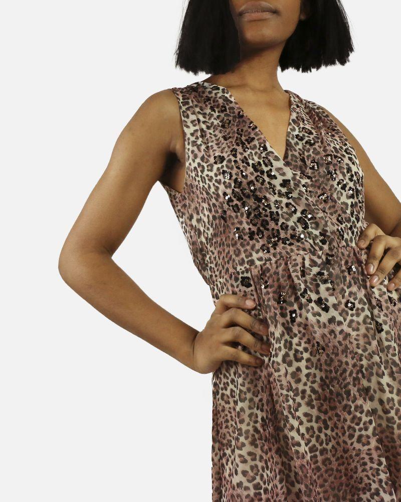 d78f34ae654b0a Robe beige imprimé leopard Dexters