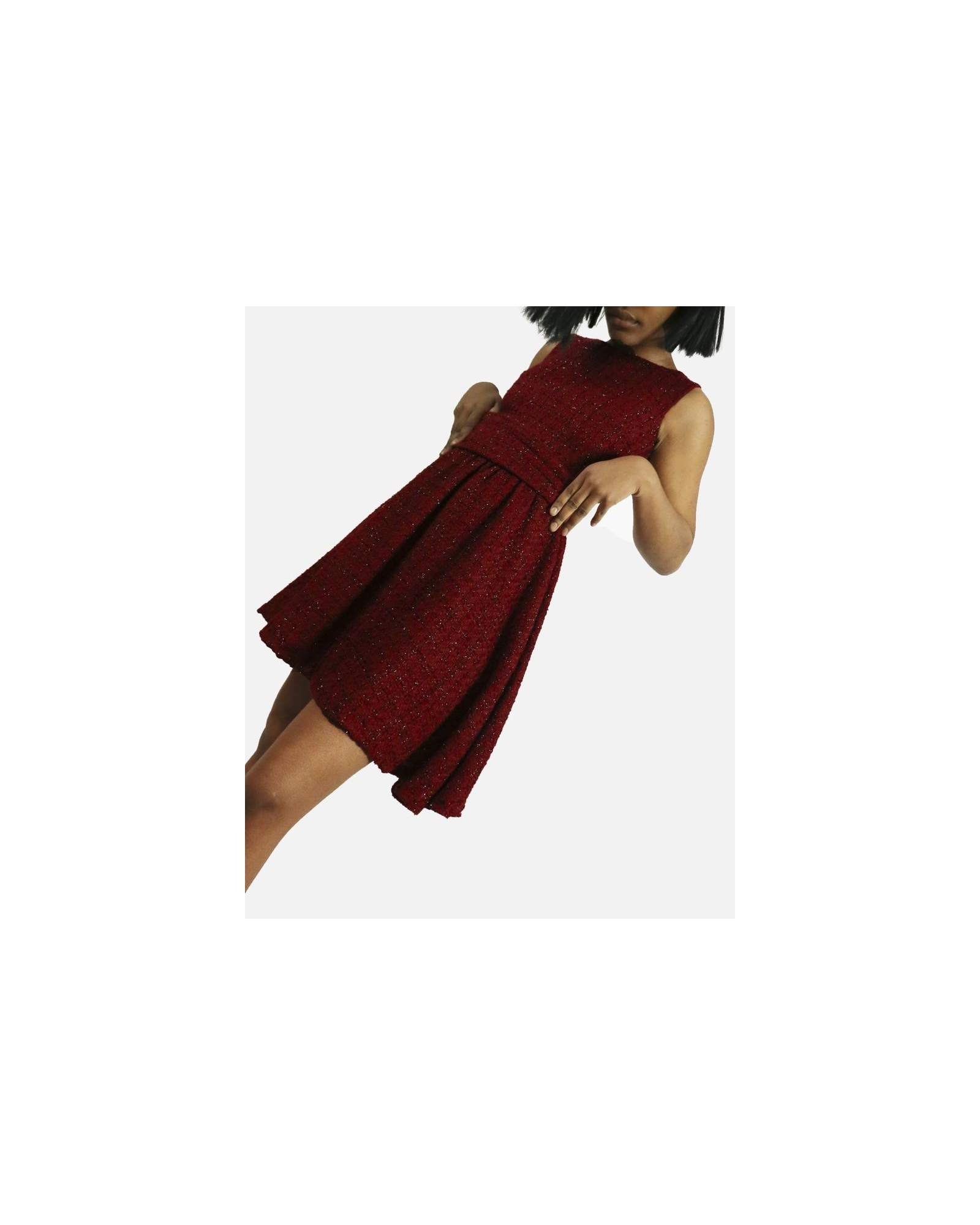 Robe façon tweed rouge Jijil