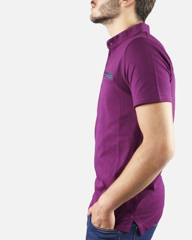 Polo violet Vneck