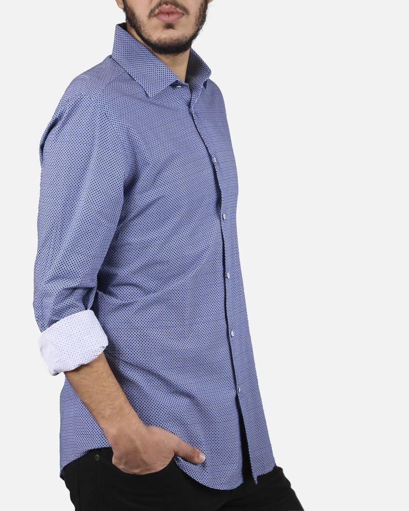 Chemise bleue à pois Slot