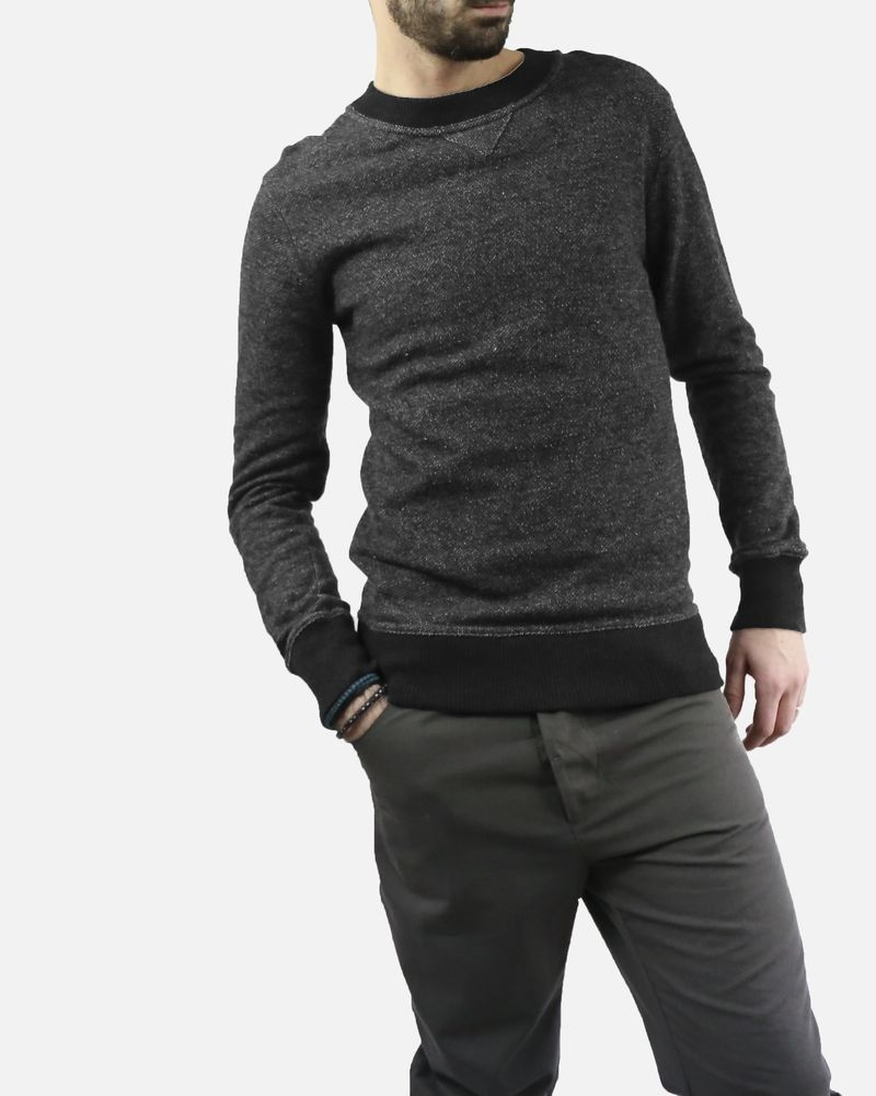 Pull gris chiné Daniele Fiesoli