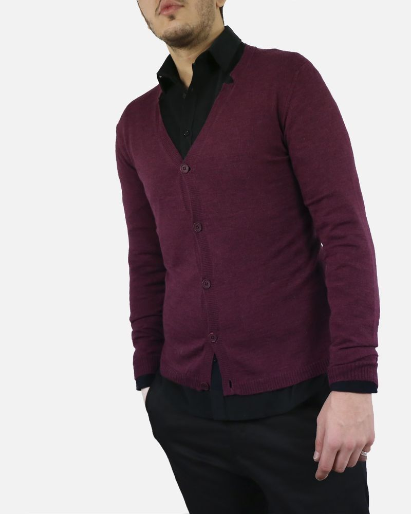 Gilet violet Woolgroup