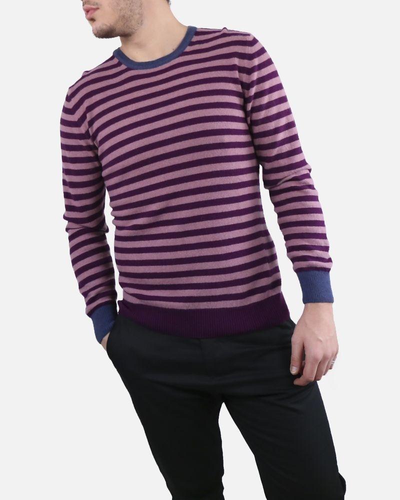 Pull violet rayé Daniele Fiesoli