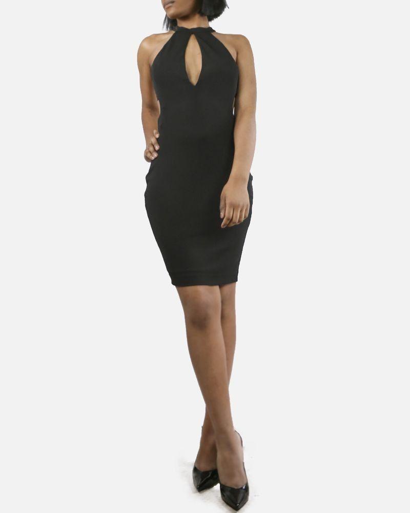 Robe ajourée noire Dsquared Femme