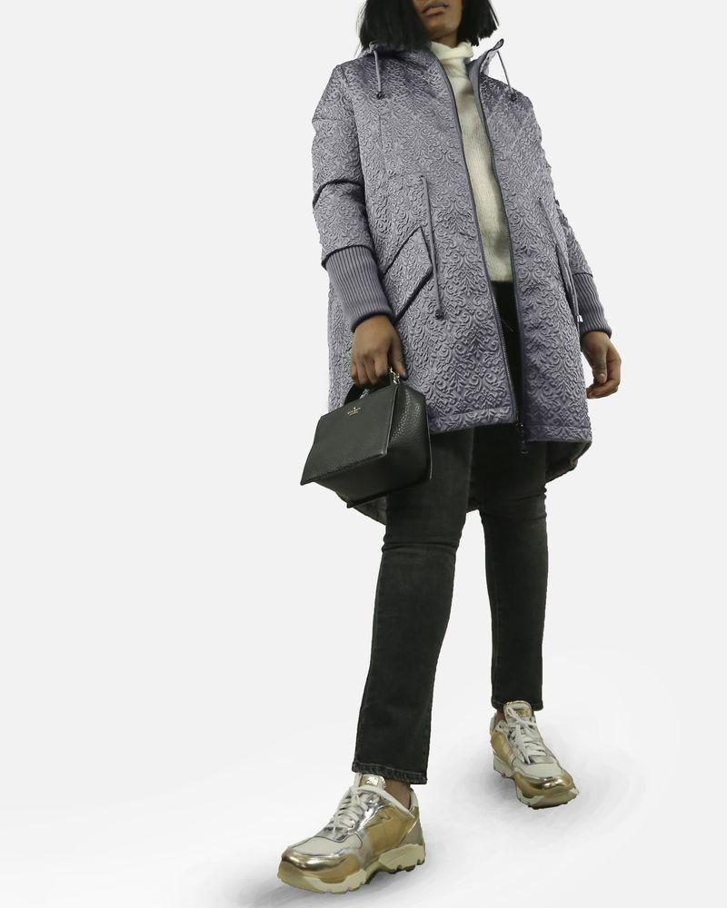Manteau à motifs bleu John Galliano Femme
