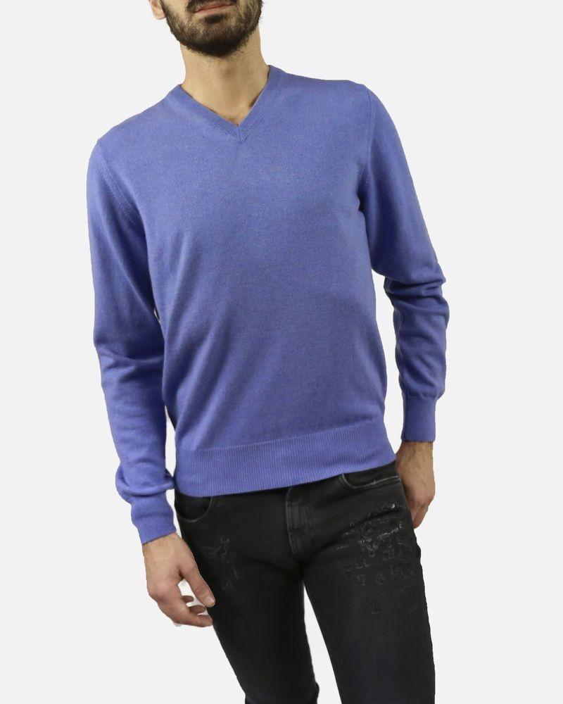 Pull violet col V Casheart