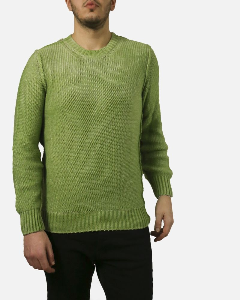 Pull vert grosses mailles Panicale Cashmere