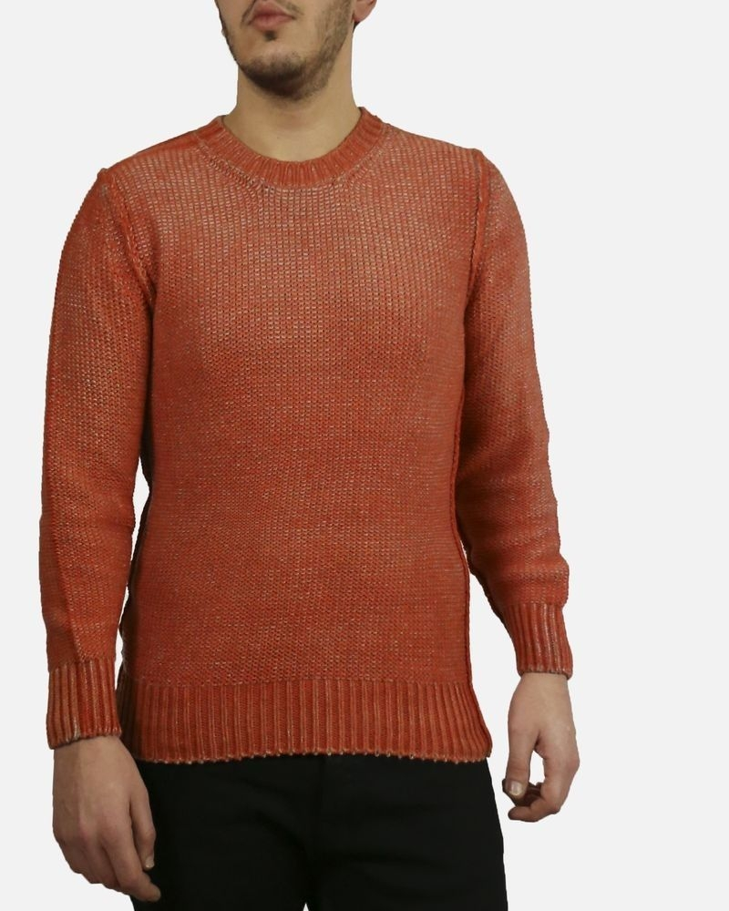 Pull orange grosses mailles Panicale Cashmere