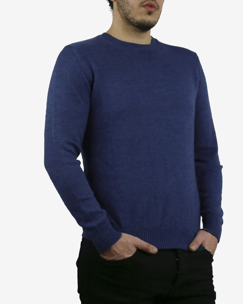 Pull bleu col rond Panicale Cashmere