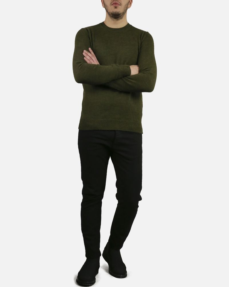 Pull vert col rond Panicale Cashmere