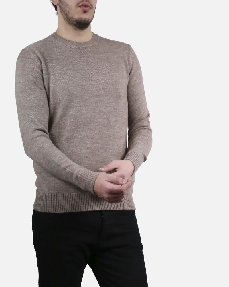 Pull beige col rond Panicale Cashmere