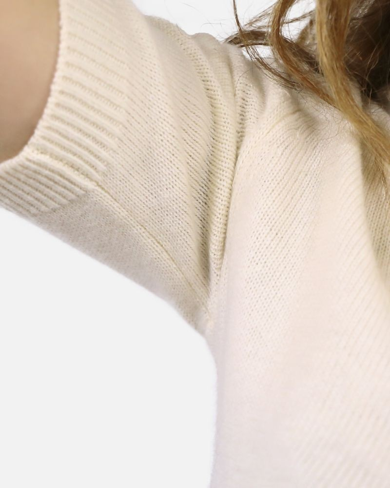Pull maille zippé beige Frankie Morello