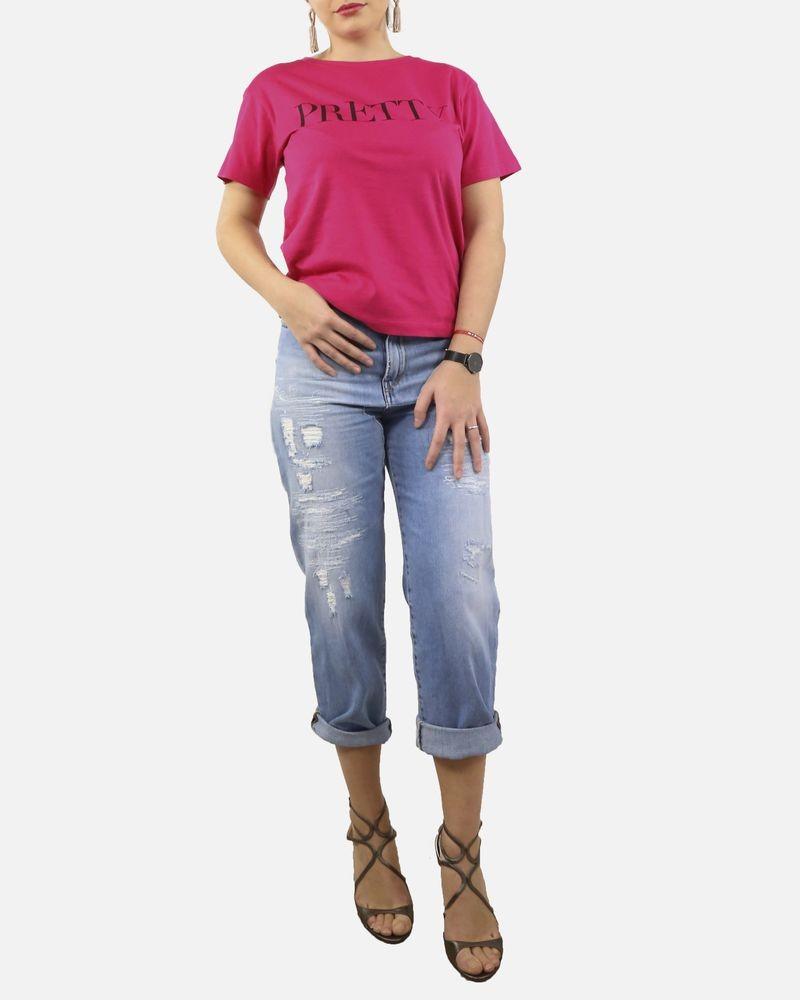 "T-Shirt rose ""Pretty"" Frankie Morello"