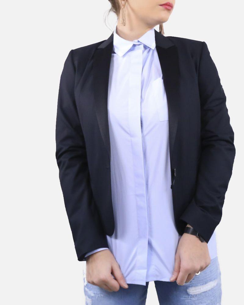 Veste blazer smocking noir Marchand Drapier