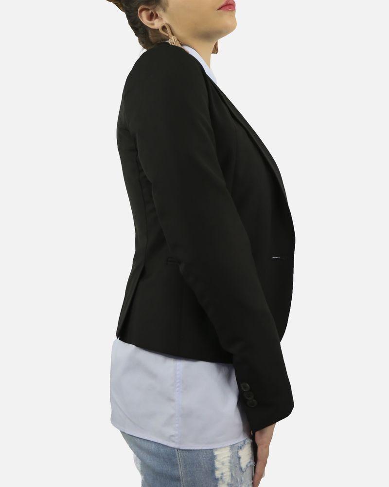 eb9e0e9d8724c Veste blazer smocking noir Marchand Drapier pas cher - Outlet La Pi...