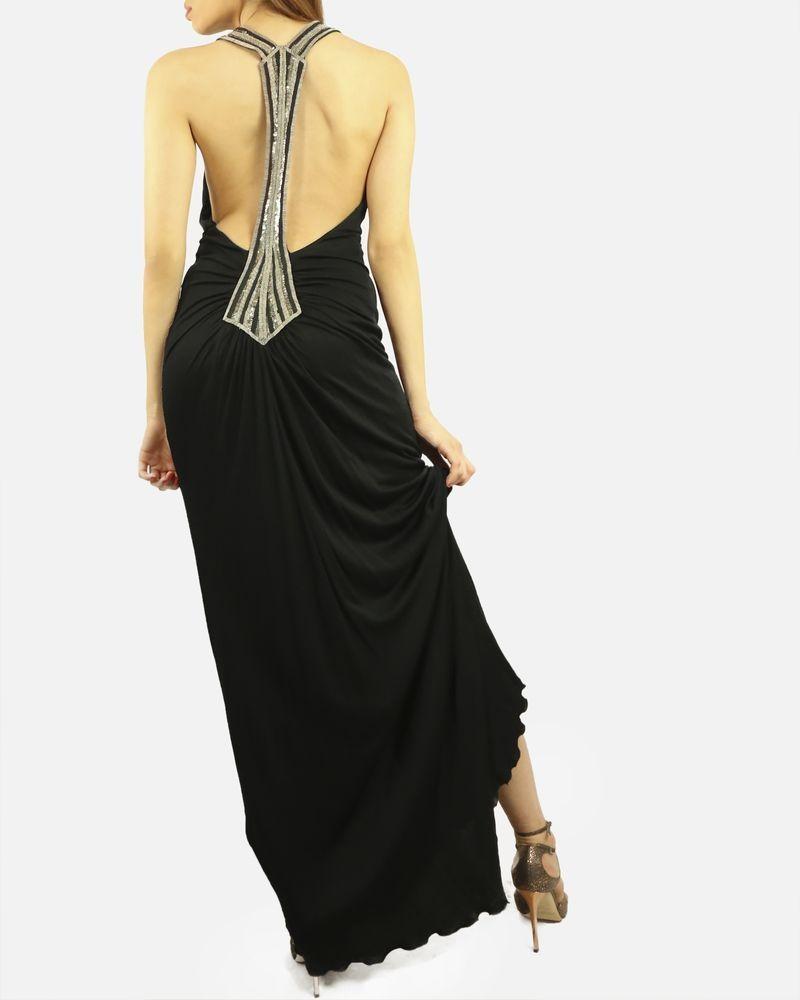 Robe débardeur noire brodé Jay Ahr Femme