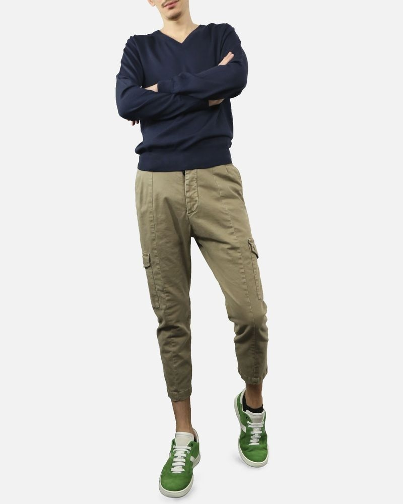 pantalon cargo beige Low Brand