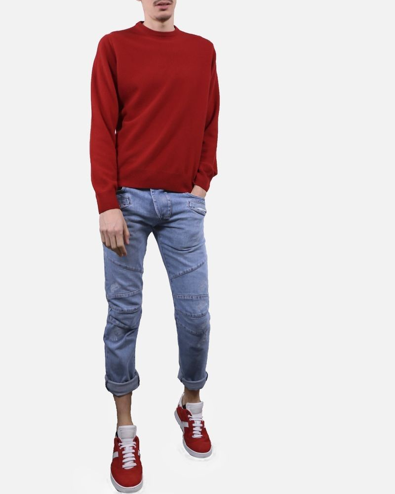 Pull en maille rouge Panicale Cashmere