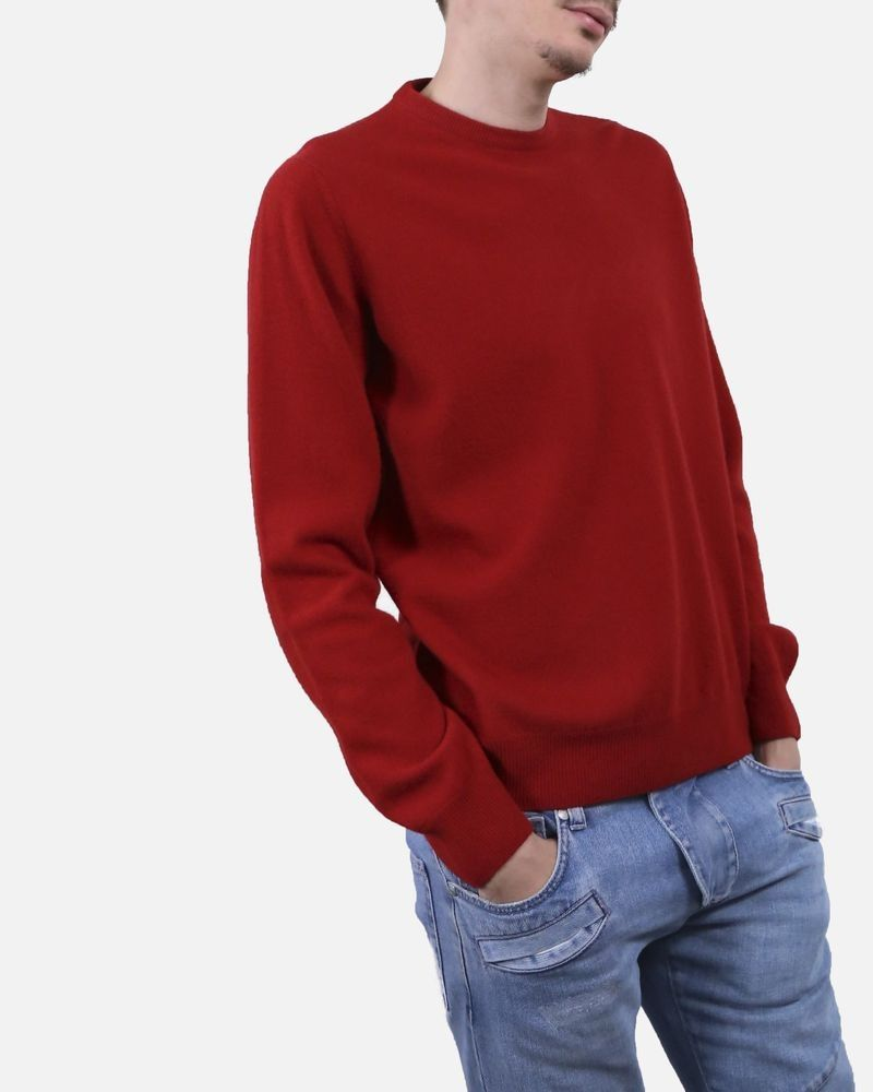 pas mal 569ad 02e3e Pull en maille rouge Panicale Cashmere