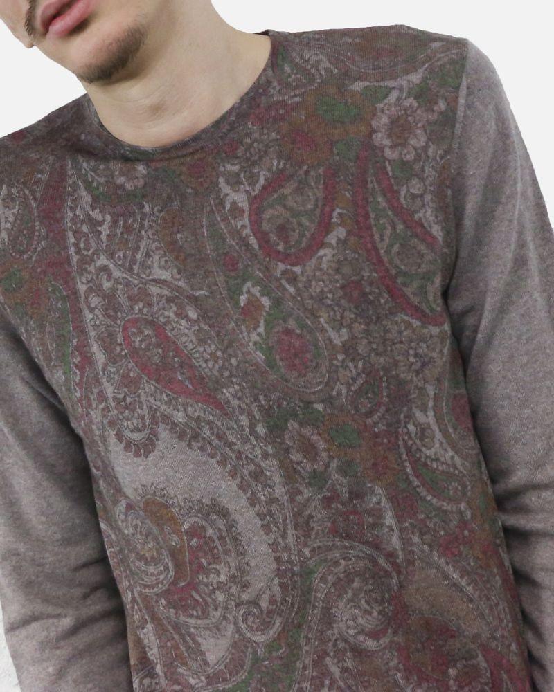 Pull en maille en laine mérinos imprimé cachemire Panicale Cashmere