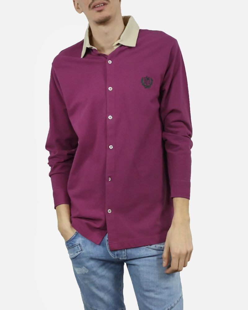Polo chemise violet Peter Hadley
