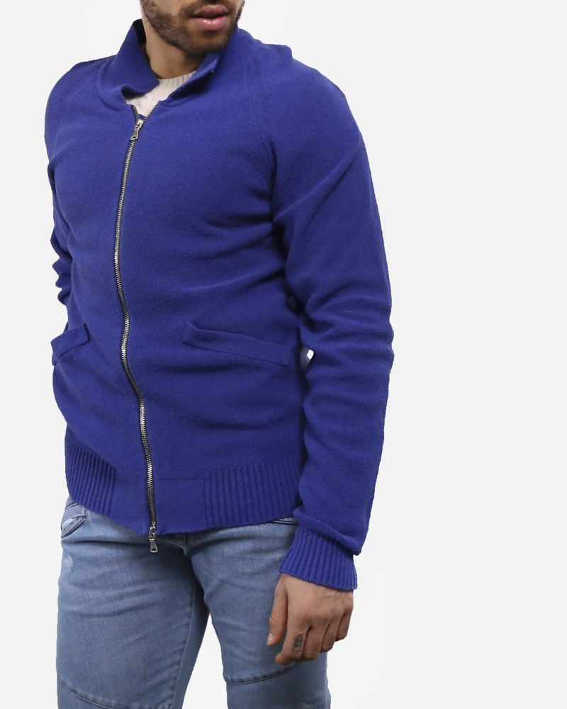 Gilet en coton bleu a poche Woolgroup Fiesoli