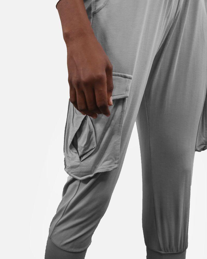 Sarouel beige à poches cargo Fluxus