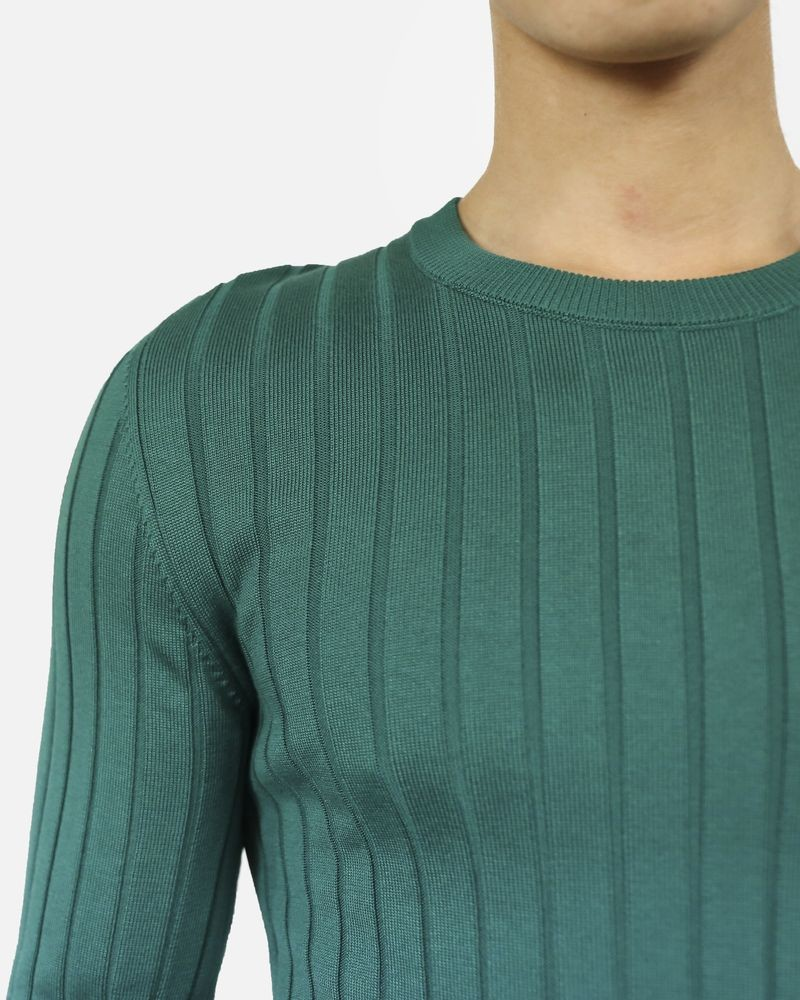 Pull côtelé en soie verte Dolce & Gabbana