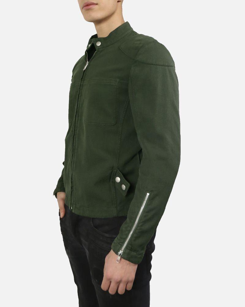 Veste en coton vert kaki coupe bomber Dondup