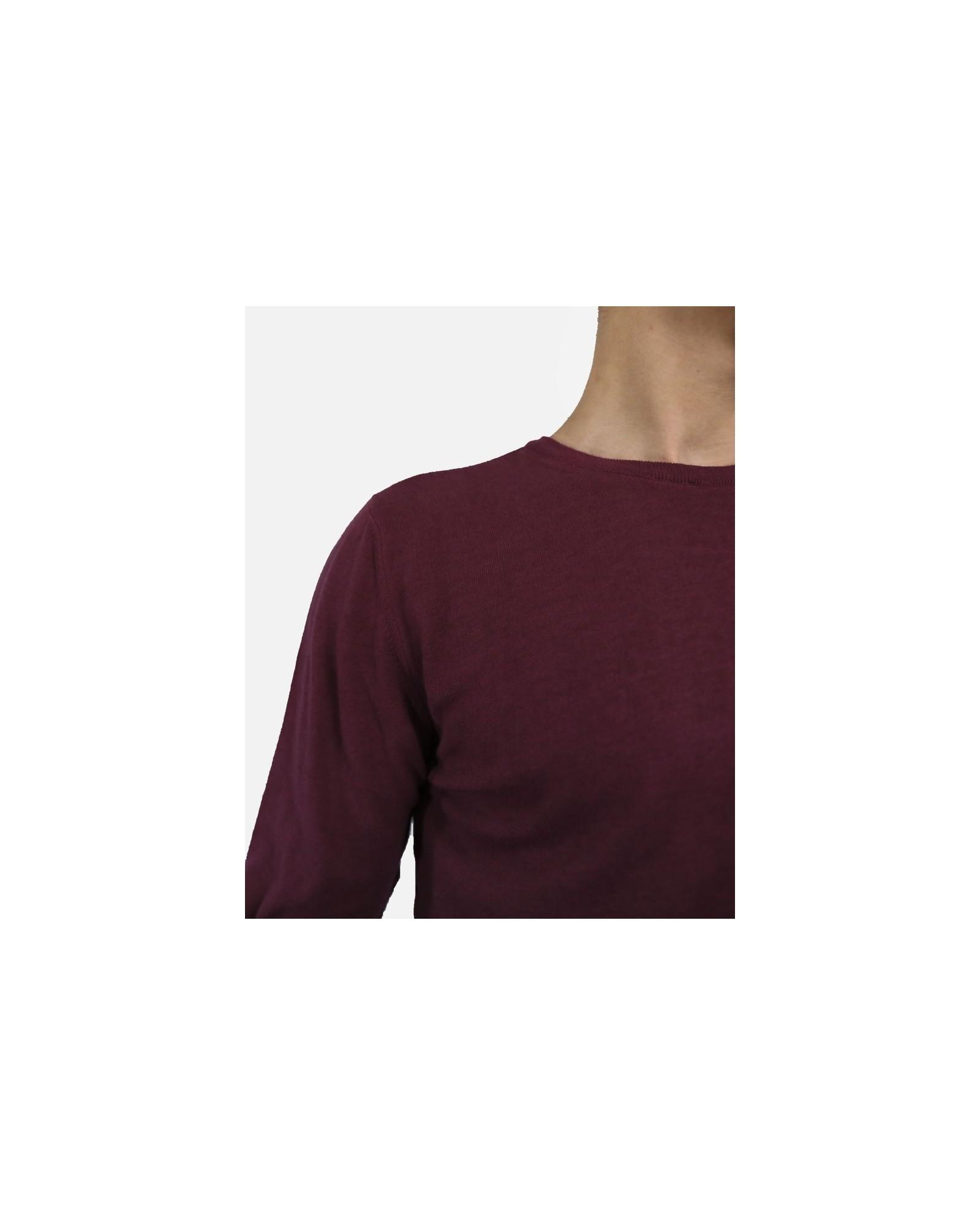 Pull bordeaux en coton Woolgroup Fiesoli