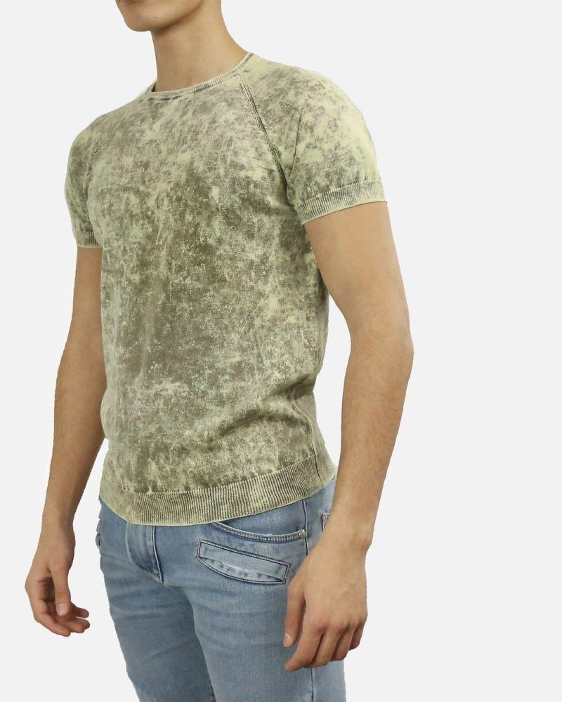 Pull en coton beige effet marbre Woolgroup Fiesoli