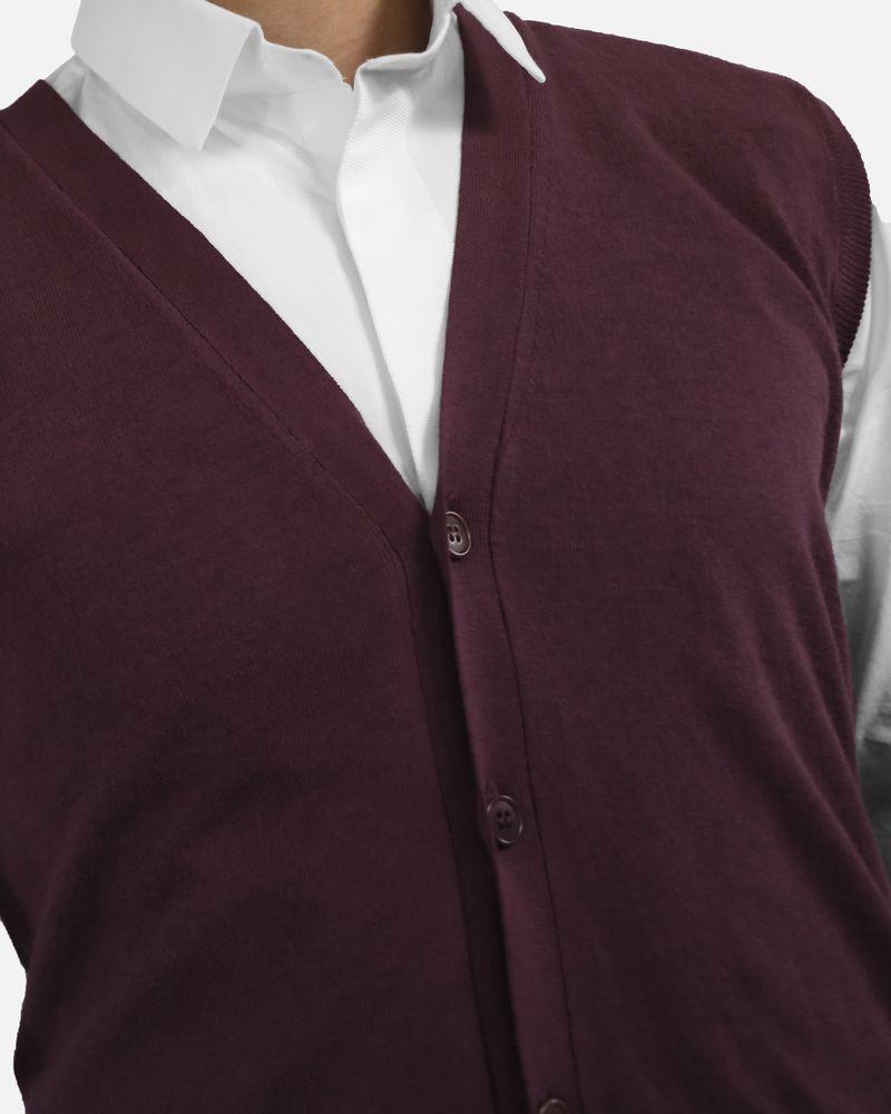 Gilet en coton bordeaux sans manches Woolgroup Fiesoli