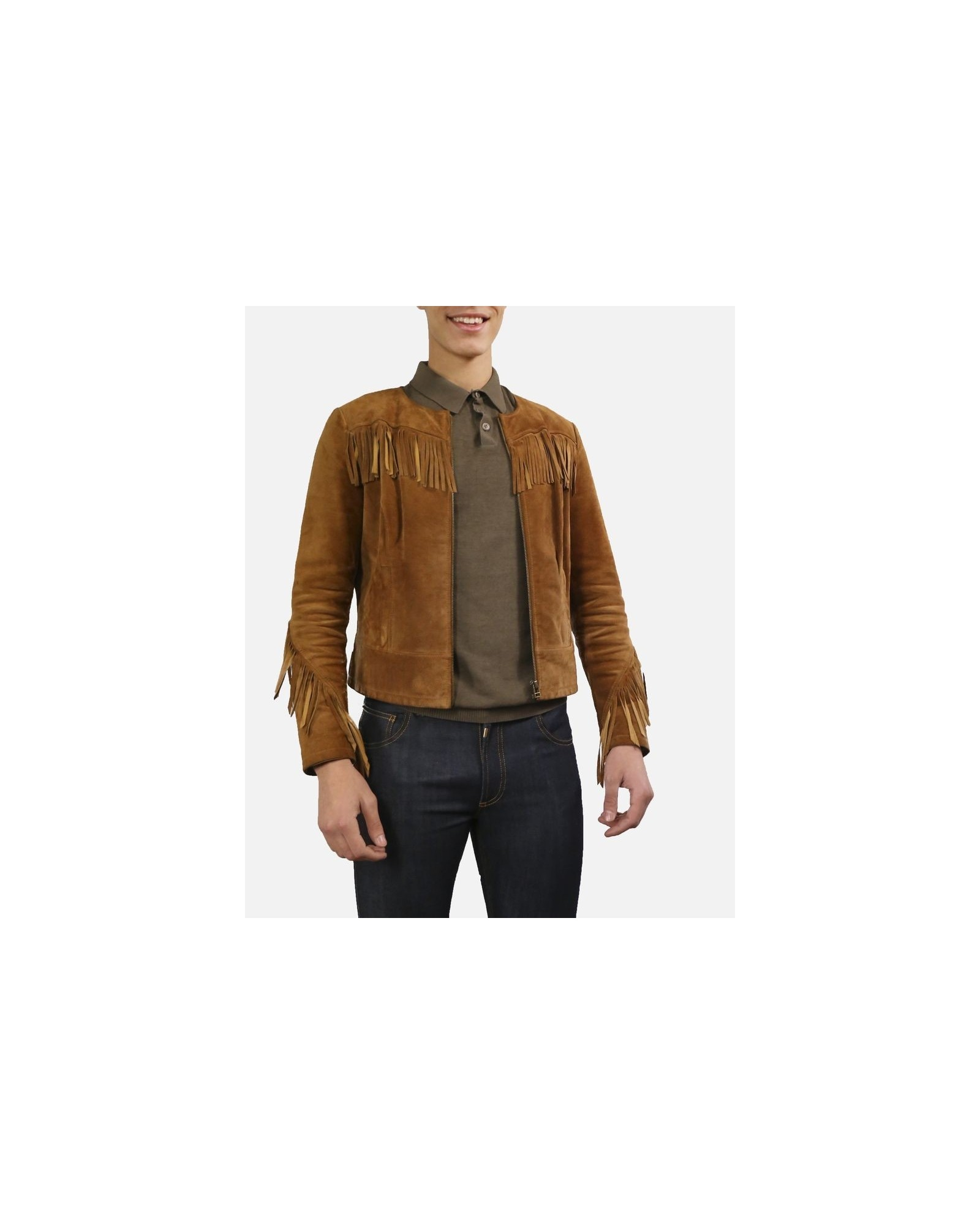 Polo en coton marron  Woolgroup Fiesoli