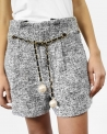 Short en tweed gris Edward Achour