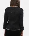 Veste en tweed noir Edward Achour