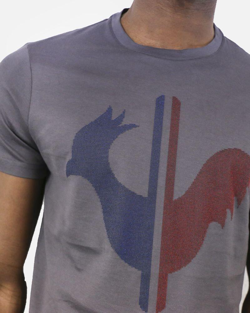 T-Shirt gris avec logo Rossignol